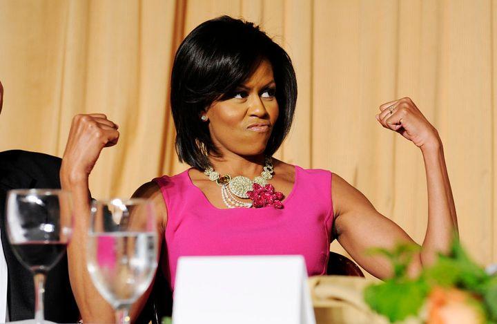Michelle ObARMa...major arm goals.