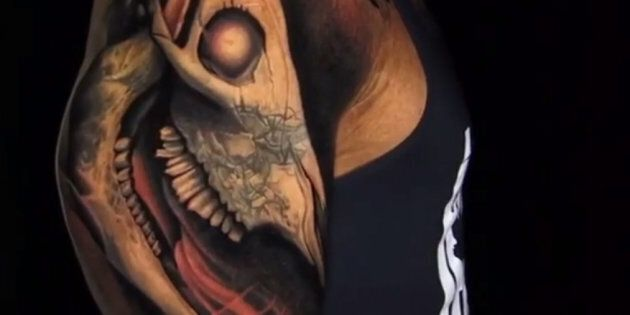 Dwayne 'The Rock' Johnson's Epic Bull Skull Tattoo Is Finally Done -- See