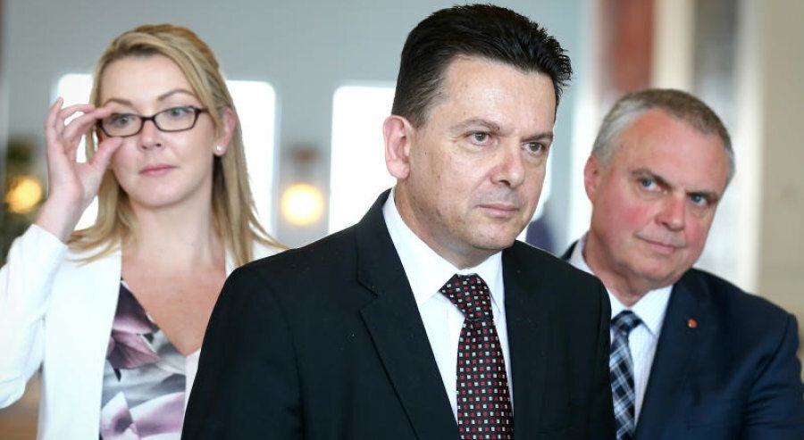 Nick Xenophon Team Senators, Senator Skye Kakoschke-Moore, Nick Xenophon and Stirling