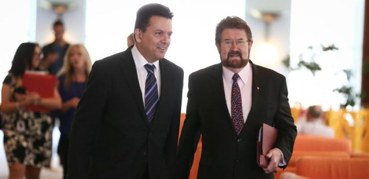 """Senators Nick Xenophon and Derryn Hinch have a """"loose alliance"""""""
