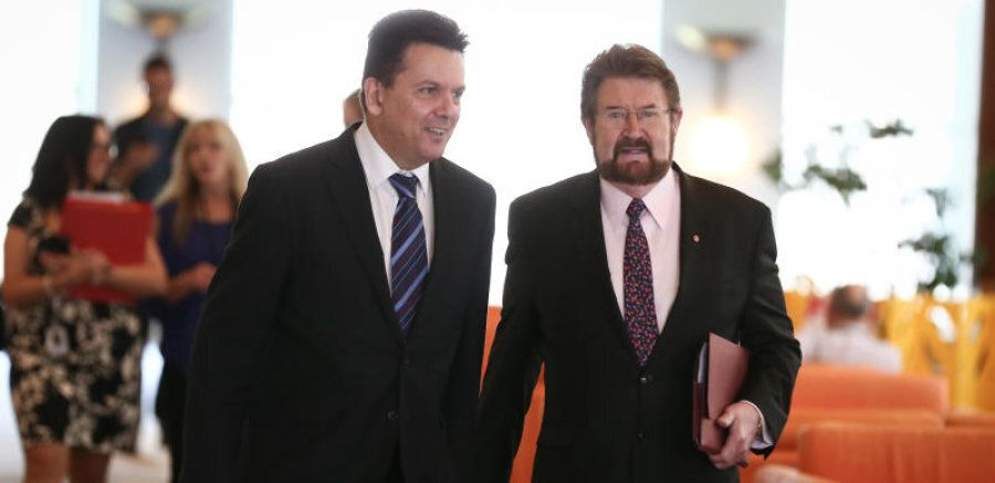 Senators Nick Xenophon and Derryn Hinch have a