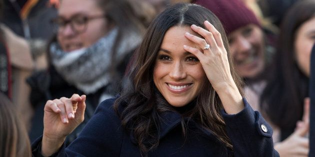 Meghan Markle at the Terrance Higgins Trust World AIDS Day charity fair on Dec. 1, 2017 in Nottingham,