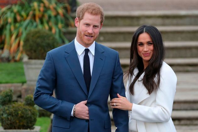 Prince Harry and Meghan Markle on Nov.