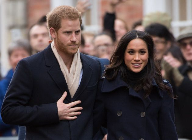 Prince Harry and Meghan Markle go on a walk about at Nottingham Contemporary on Dec. 1,