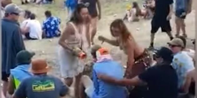 A woman hits the man who allegedly groped her at New Zealand's Rhythm and Vines