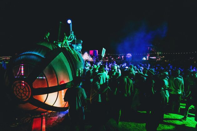 The K-SUB submarine beach club, on the banks of the