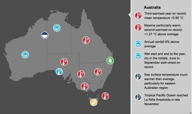 A BOM Snapshot of Australia's climate in 2017