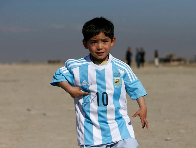 Yep, Lio signed right there. Murtaza was just five when this pic was taken in Afghanistan in