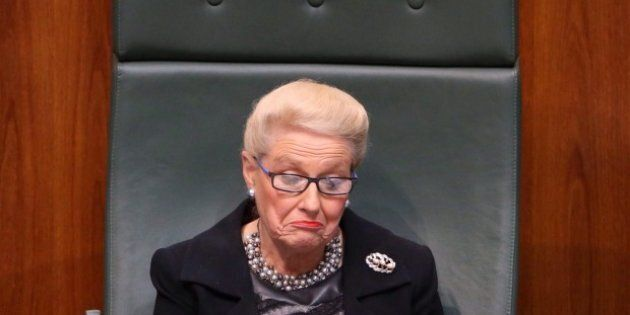 Bishop, before she was forced to resign as Speaker over her expense