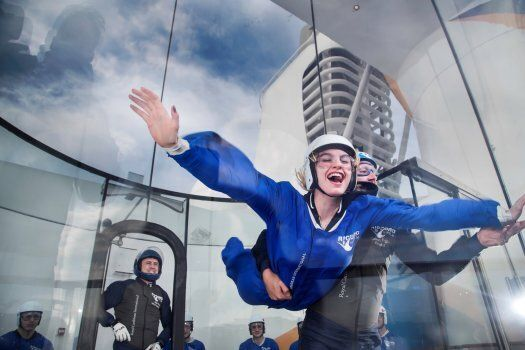 Never a dull moment at sea when you can go sky diving.