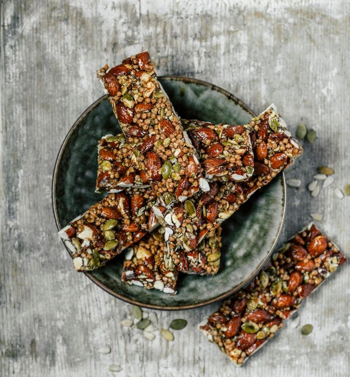 If you're feeling crafty, make your own delicious muesli bars.