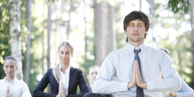 Yoga at work might be great for some people but others might not appreciate it being a 'work