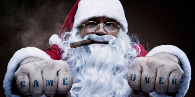 Santa doesn't care whether you've been naughty or