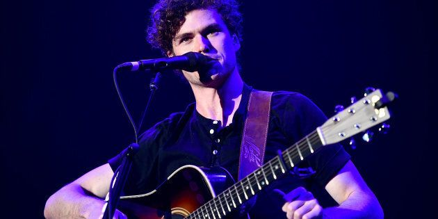 Vance Joy performs performing in Inglewood, California in