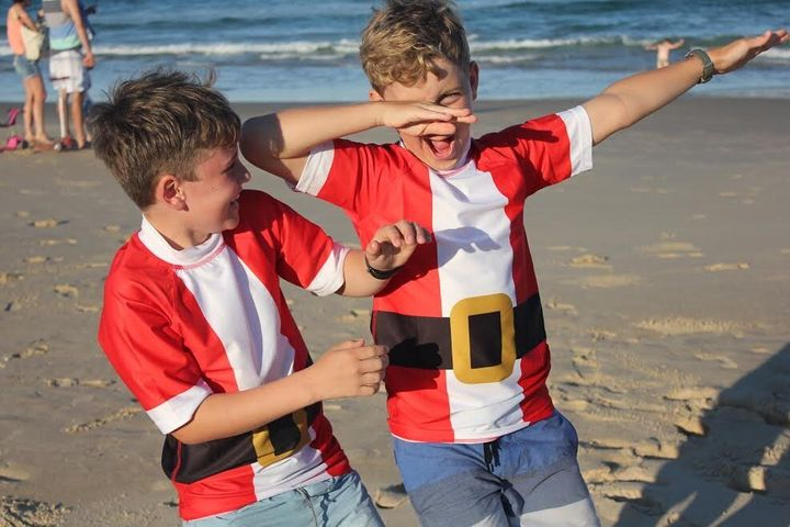 Occasion Surf has taken advantage of the Christmas season to launch its Santa Rashie but the tricky part is there's only a small window of time for marketing.