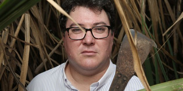 George Christensen Federal Member for Dawson for the LNP in a sugar cane field with his grandfather's...