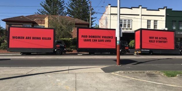 Australian Unions Call For Domestic Violence Leave With '3 Billboards'