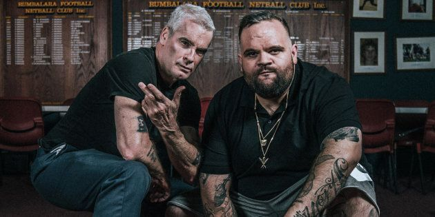 Henry Rollins with Adam Briggs, one of the subjects in Rollins' new interview series 'Tough Conversations'