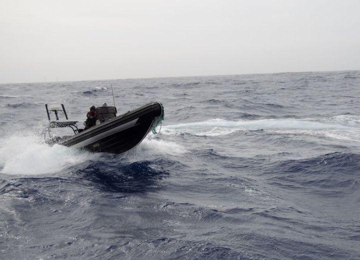 Elissa Sursara rides the delta in the Southern Ocean.