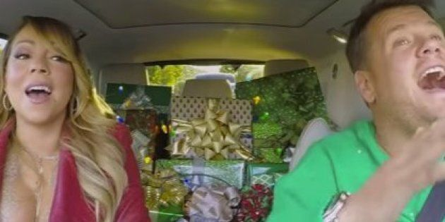 Mariah Carey sings 'All I Want For Christmas Is You' in carpool