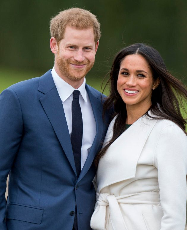 Prince Harry and Meghan Markle during an official photocall to announce their engagement in November