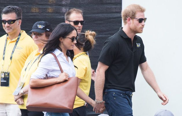 Meghan Markle and Prince Harry at the Invictus Games in Toronto.