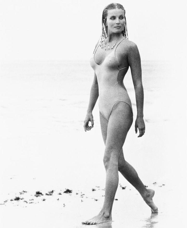 Actress Bo Derek as Samantha Taylor in the 1979 movie 10.