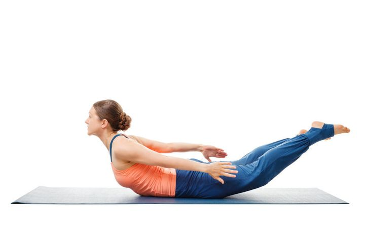 If this pose is uncomfortable on your pelvic bone, place a blanket underneath you.