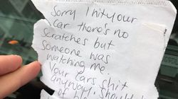 This Guy's Parked Car Was Hit, And The Other Person Wrote HIM An Angry