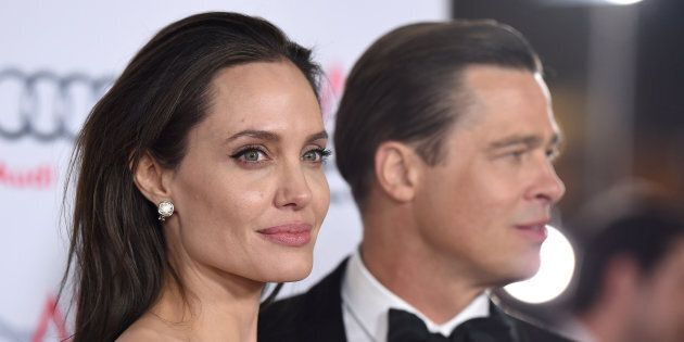 HOLLYWOOD, CA - NOVEMBER 05:  Actors Angelina Jolie and Brad Pitt arrive at the AFI FEST 2015 presented by Audi Opening Night Gala Premiere of Universal Pictures' 'By The Sea' at TCL Chinese 6 Theatres on November 5, 2015 in Hollywood, California.  (Photo by Axelle/Bauer-Griffin/FilmMagic)