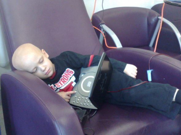 Josh received blood and platelet infusions throughout his