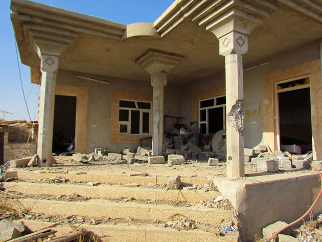 The tunnel came up inside this family home which was turned into an ISIS