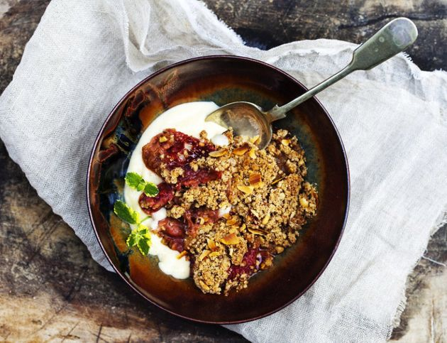 Serve this crumble cold if it's a particularly hot Christmas