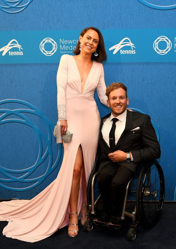 Dylan Alcott and girlfriend Kate Lawrance make one heck of a good-looking