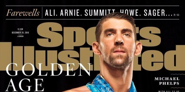 This is swimmer Michael Phelps' 12th Sports Illustrated cover.