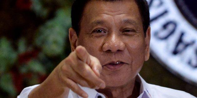 Philippine President Rodrigo Duterte has openly spoken about people he's killed.
