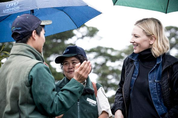 Cate Blanchett has met with refugees making a difference in Australia since she was appointed an ambassador in May.