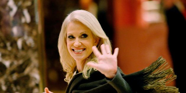 Kellyanne Conway, campaign manager and senior advisor to the Trump Presidential Transition Team, exits...
