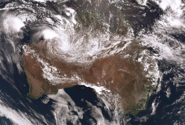The blob over the WA coastline is the low. The one further out to sea is TC