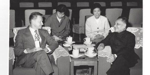 Then-U.S. National Security Adviser Zbigniew Brzezinski with former Chinese leader Deng Xiaoping in Beijing in 1979.