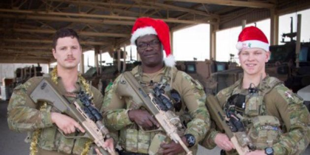 Australian troops have sent Christmas messages home to loved