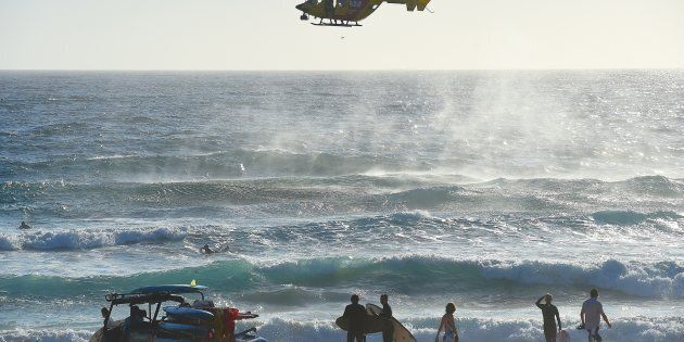 Surf lifesavers search for a boy who went missing at Maroubra