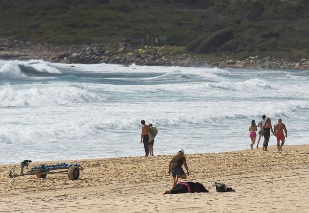A woman, believed to be the mother of the 14 year old boy who went missing at Maroubra Beach on Tuesday,...