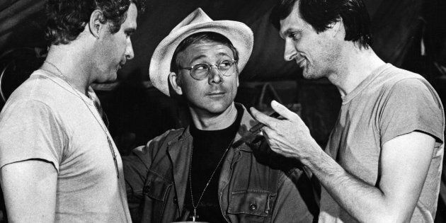 William Christopher, center, as Father Mulcahy on