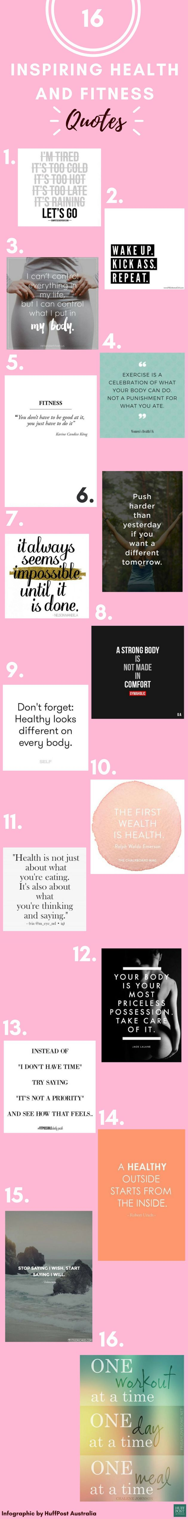 16 Inspiring Health And Fitness Quotes To Help You Stay On ...