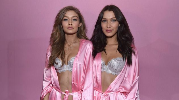The sister's both wore their hair out and tousled for the Victoria Secret show in Paris in