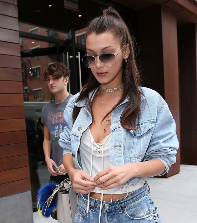 Bella's half-up-half-down is the perfect casual cool