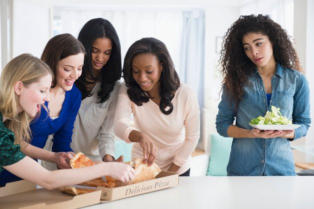 Try planning a meal with friends at a place you know has healthy