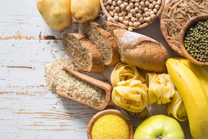 Go for complex carbohydrates like whole grain bread and pasta, brown rice, legumes and veggies.