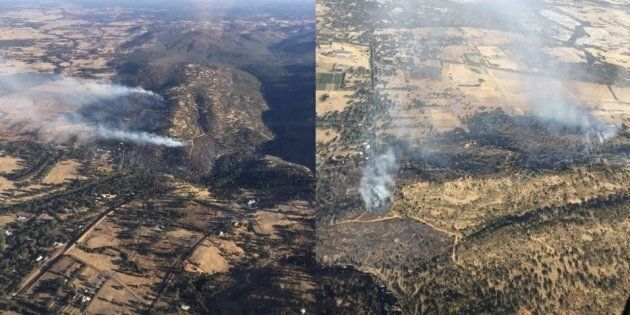 DFES Aerial images looking at the Upper Swan fire to the north and west